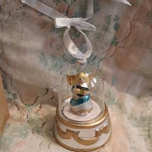 Animated Angel Music Box Ornament
